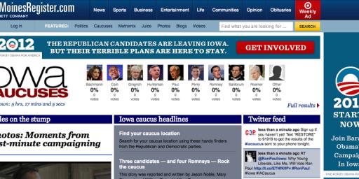 Obama Iowa Caucus Ad Buy