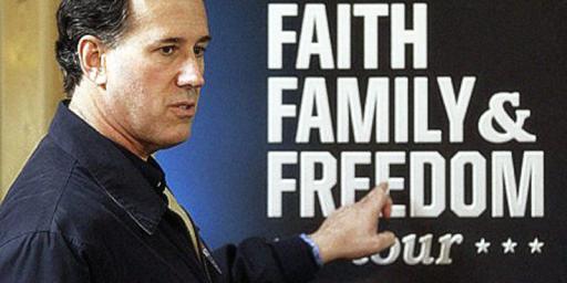 Rick Santorum Thinks Satan Has Taken Over America