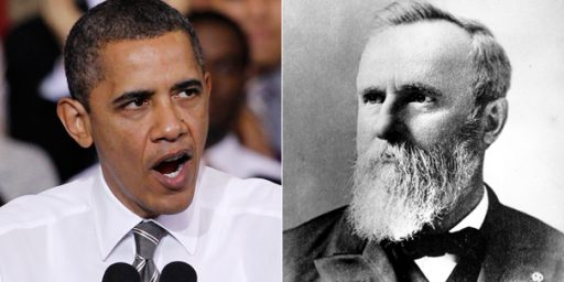 Obama Knocks Rutherford B. Hayes