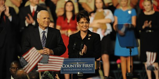 McCain Regrets Picking Sarah Palin As His Running Mate