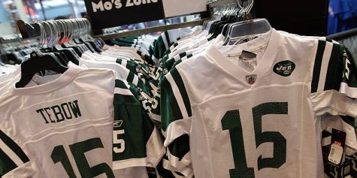 Nike Sues Reebok Over Tebow Jerseys