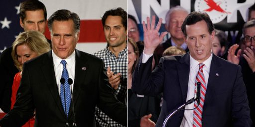 Romney Scores Triple Primary Win, Santorum Campaign Becomes Quixotic Crusade