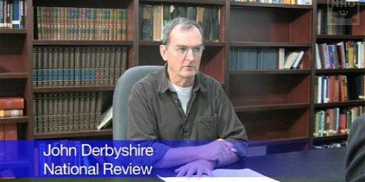 John Derbyshire's Bizarre Rant
