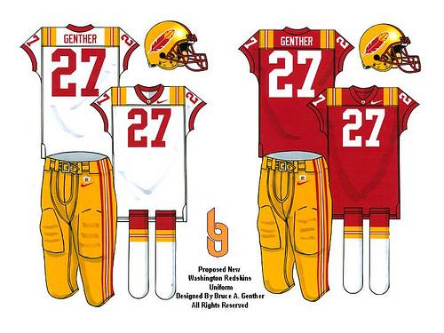 promo code 2d2cb 9e85c Washington Redskins Uniform Redesign