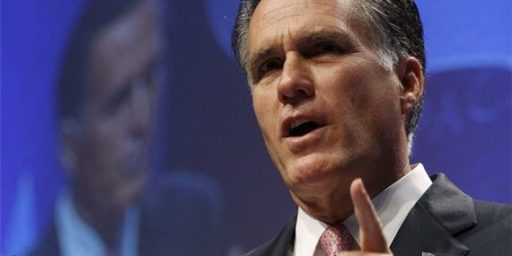 """Romney Says He's """"Fine"""" With Gay Adoptions, Then Flip-Flops"""