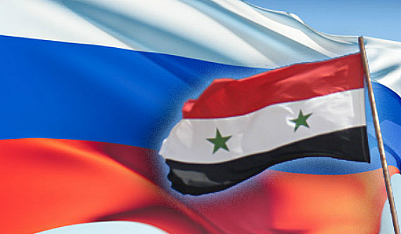 Russia Syria Flags