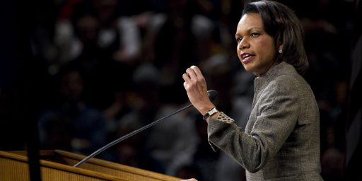 Condi Rice On The VP Slot: Thanks, But No Thanks