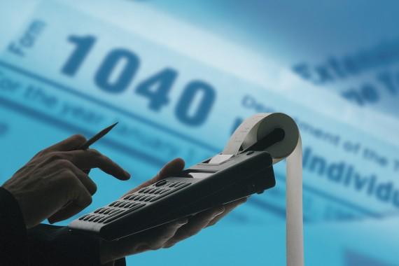 taxes-adding-machine