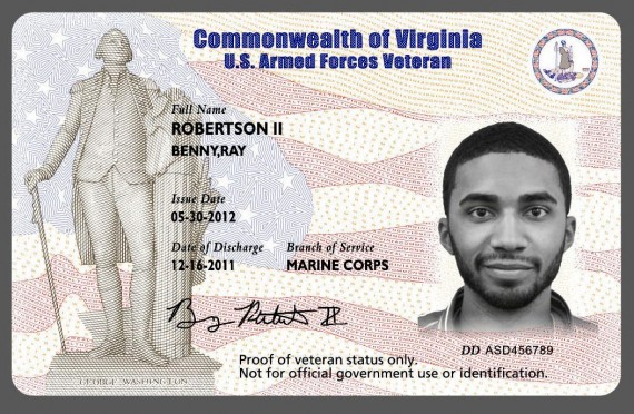 Id Virginia Veterans Card Veterans Virginia