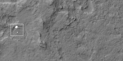 NASA Releases Image Of Curiosity's Descent To The Martian Surface