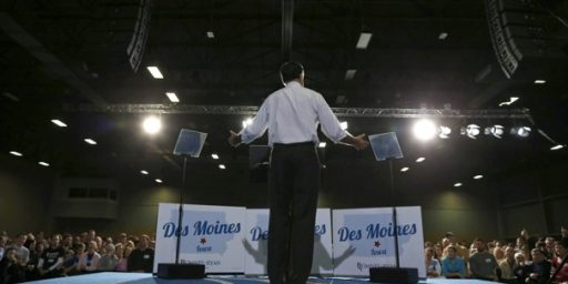 Romney Relying On Teleprompters During Final Campaign Swing