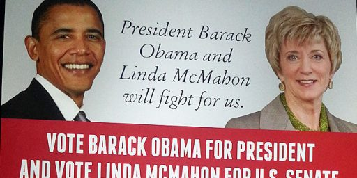 Linda McMahon To Voters: Vote For Me, And Barack Obama