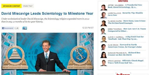 Atlantic Scientology Advertorial