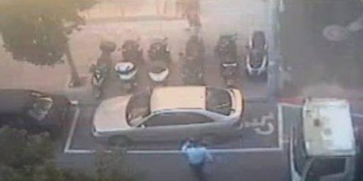 City Paints Handicapped Spot Around Car, Tows It
