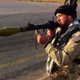 Eric Harroun firing RPG, which is a WMD according to the USG. WTF.