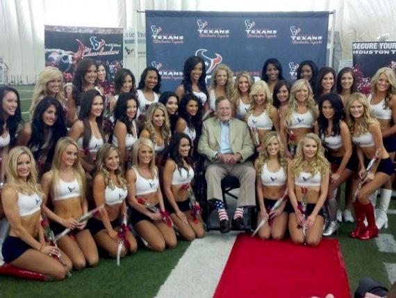 George-W.-Bush-Texans-cheerleaders-tryouts-April-2013_091314