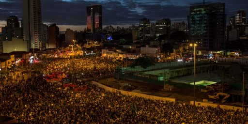 Meanwhile, There Are Huge Protests In Many Brazilian Cities