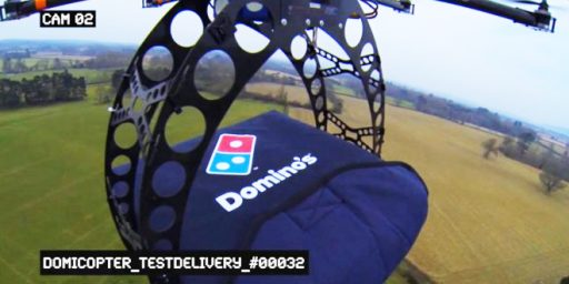 Domino's Working On Pizza Delivering Drone