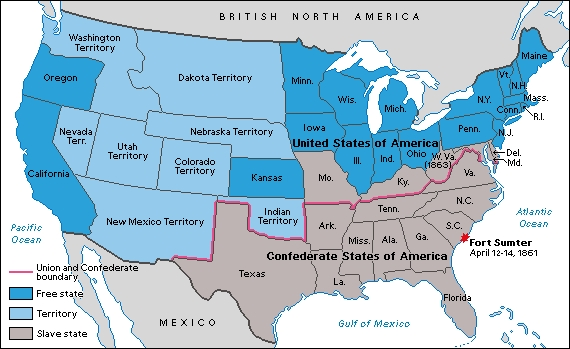 us map before civil war Was The American Civil War Avoidable