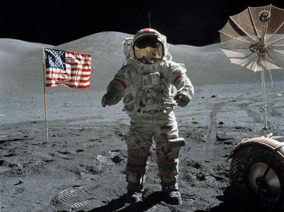 Photo of Armstrong on moon: NASA