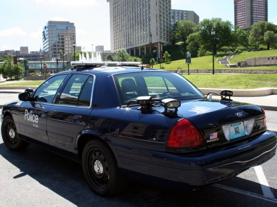 Police Cruiser With License Plate Readers