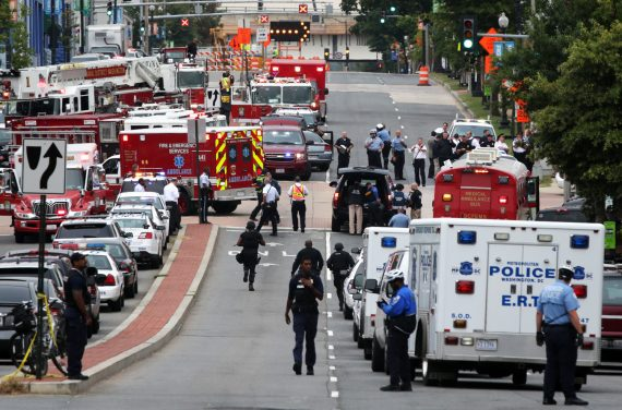 Image: Shooting At Washington DC Navy Yard Reportedly Leaves At Least One Wounded