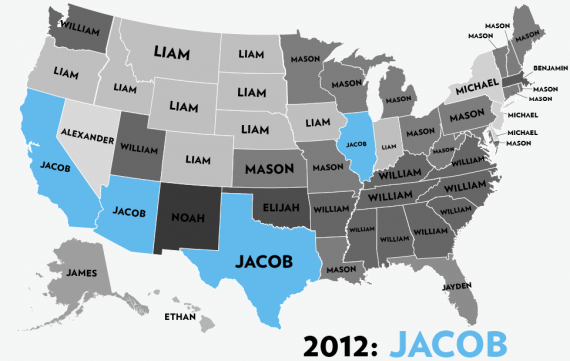Boys Names 2012