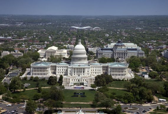 United States Capitol Building, Washington, D.C. Aerial
