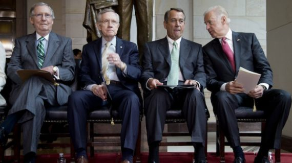 Mitch McConnell, Harry Reid, John Boehner, Joe Biden