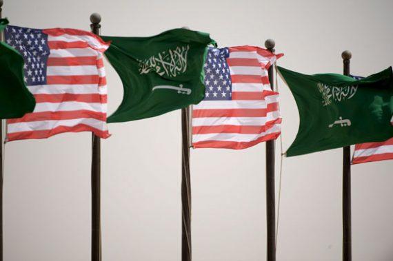 US Saudi Flags