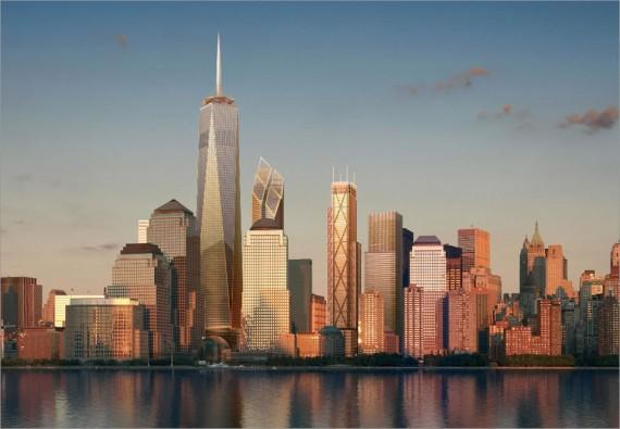 NYC Skyline With One World Trade Center
