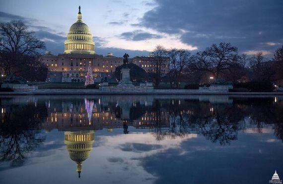 Capitol Christmas Dusk