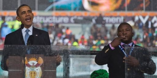 Just How Bad Was Security At Nelson Mandela's Memorial Service?