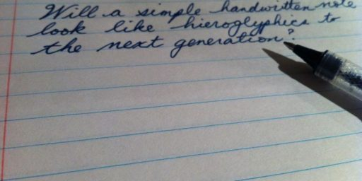 The Death of Cursive Writing?
