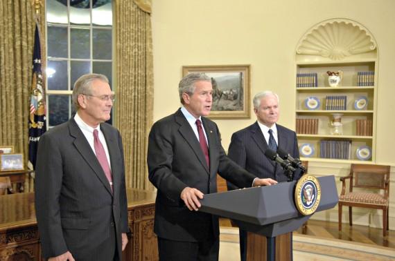 Bush Gates Rumsfeld