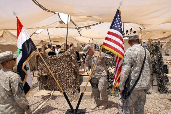 US Iraqi Flags
