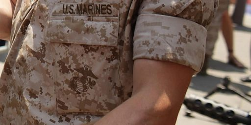 Marines Roll Sleeves; Soldiers Roll Eyes