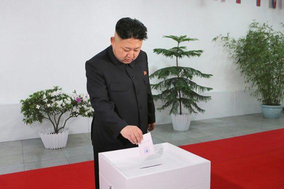 Kim Jong-un casts ballot