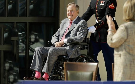 George HW Bush 'alert and out of intensive care'