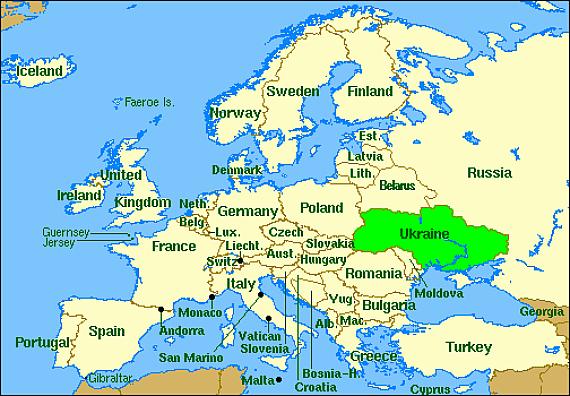 Ukraine On Map
