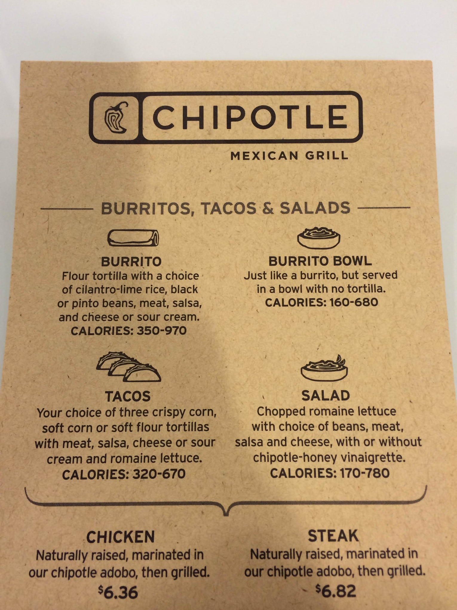 picture regarding Chipotle Printable Menu referred to as Dont Blame Chipotle for Pointless Calorie Articles