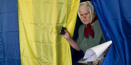 Ukrainians Head To The Polls, Except In The East