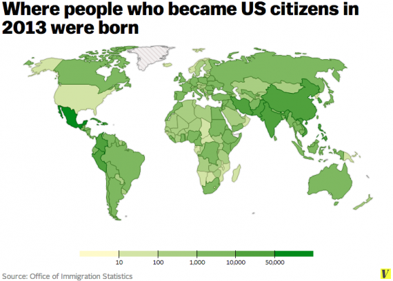 Immigrant Map One