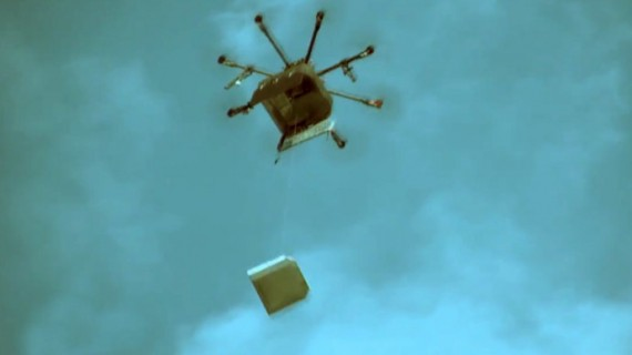 Russia Pizza Delivery Drone