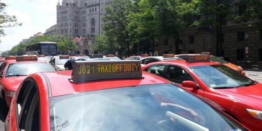 DC Cabbies Block Streets to Protest Lyft and Uber