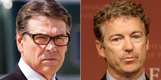 Rand Paul, Rick Perry Spar Over Foreign Policy
