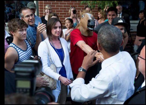 obama horse