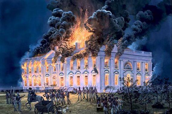 Burning White House