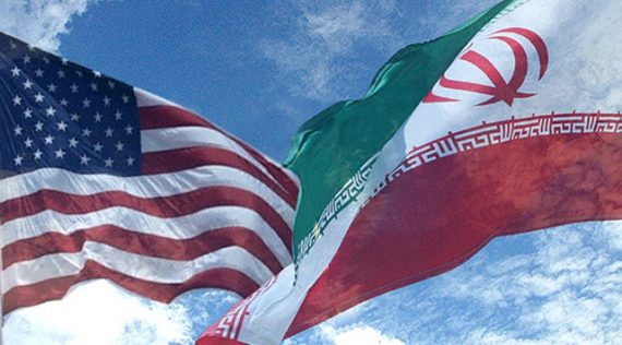 Iranian And American Flags