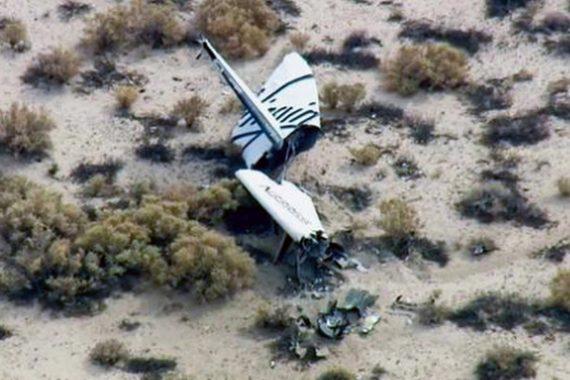 Virgin Galactic Spaceship Two Crash